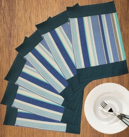 Dekor World World Of Stripe Table Placemat - Pack Of 6