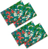 Sej By Nisha Gupta Rectangular Pack Of 4 Table Placemat Green, Cotton