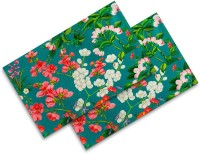 Sej By Nisha Gupta Rectangular Pack Of 2 Table Placemat Green, Cotton