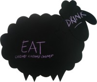 PoppadumArt Mrs. Sheep - Chalkboard Puzzle Mat Table Placemat
