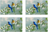 MeSleep Birds Pair Pack Of 4 Table Placemat Multicolor, Polyester