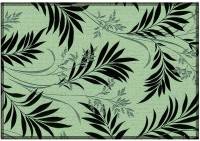 Leaf Designs Black & Green Floral Table Placemat (Pack Of 6)