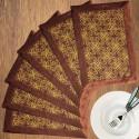 Dekor World Foral Blossom Table Placemat - Pack Of 6 - TPMDU84KZAFM2KKZ