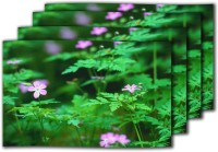 MeSleep Green Leaves Table Placemat (Pack Of 4)