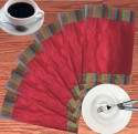 Dekor World Polychromic Border Table Placemat - Pack Of 6
