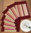 Dekor World World Of Stripe Table Placemat - Pack Of 6 - TPMDYHV9TPZZVYEY