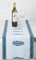 Ocean Home Store Blue 180 Cm Table Runner Cotton