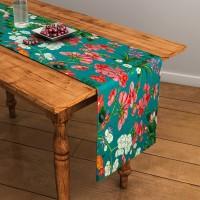SEJ By Nisha Gupta Green 120 Cm Table Runner Cotton