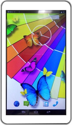 VOX 17.7cm Dual Sim 3G Dual Core HD Tablet Dual Camera Android 4 GB with metallic body available at Flipkart for Rs.4299