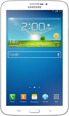 Samsung Galaxy Tab 3 T211 Tablet White, 8  GB, 2G, 3G, Wi Fi available at Flipkart for Rs.14345