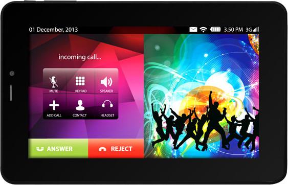 Lava E-Tab Connect Tablet Black, 4 GB, Wi-Fi, 3G