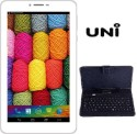 UNI 17.7cm Dual Sim 3G Dual Core HD (N2) Tablet 2+5 MP Camera Android WITH KEYBOARD (White ) (White, 4 GB, 3G)