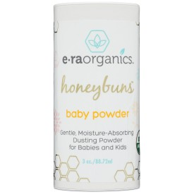 Era Organics Talc Free Baby Powder 3oz. USDA Certified Dusting Powder by Honeybuns Non-GMO, Cruelty Free Natural Baby Products.