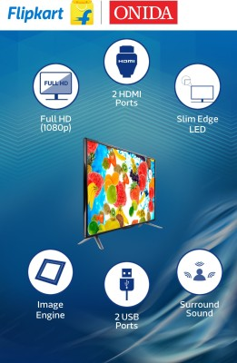 Onida 101.6cm (40) Full HD LED TV (2 X HDMI, 2 X USB)