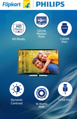Philips 81cm (32) HD Ready LED TV (1 X HDMI, 1 X USB)
