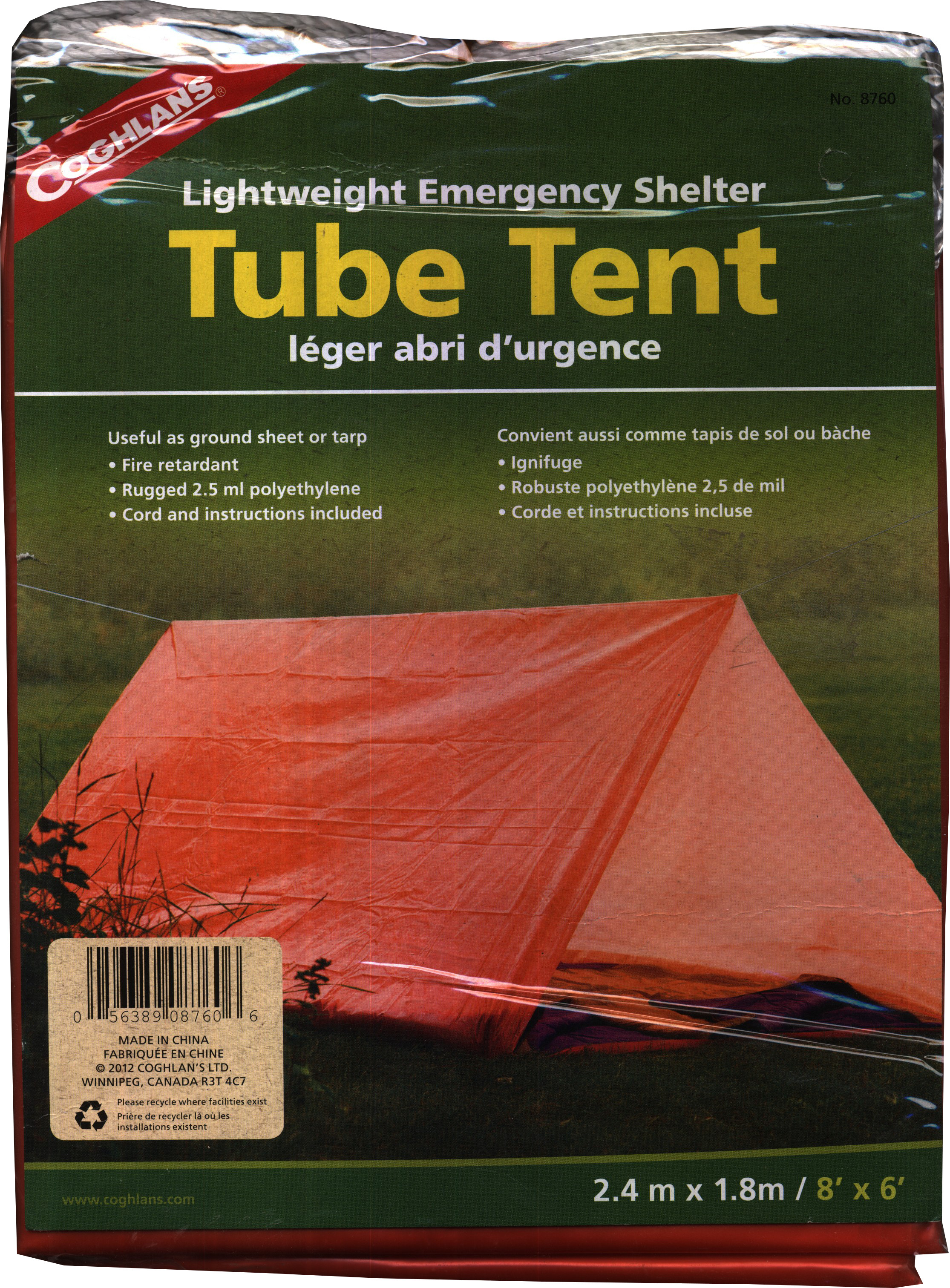Coghlans Tube Tent - For 2 Persons & Tents Price in India. Buy Tents Online at best price in India ...