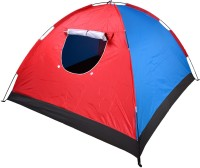 Greggs Big Tent - For 4 Person, Out Door Picnic, Training, Camping, Tour Tent - For Moon Soon, Rainy, Winter, Summer (Red, Blue)
