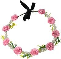 Muren Pearls & 7 Flowers-lp Crown & Tiara (Pink, Pack Of 1)