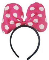 Funcart Minnie Mouse Hot Pink Bow Headband Crown & Tiara (Pink, Pack Of 1)