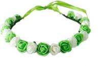 Loops N Knots Little Princess Crown & Tiara (Green, White, Pack Of 1)