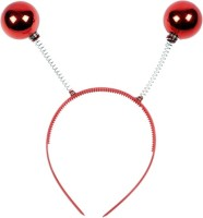 Funcart Red Disco Ball Head Boppers Crown & Tiara (Red, Pack Of 1)