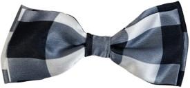 Blacksmith Black And White Checksdesign Bow Checkered Men's Tie
