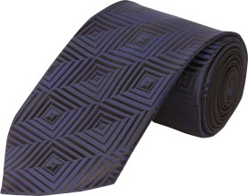 CorpWed Graceful Dark Blue Striped Men's Tie