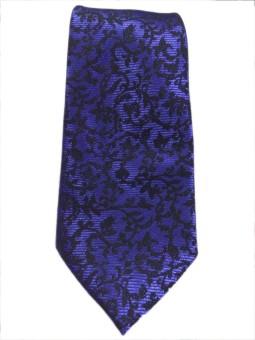 Blacksmithh Purple Floral Weave Classic Floral Print Men's Tie