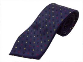 Blacksmithh Navy Blue Polka Dots Formal Polka Print Men's Tie
