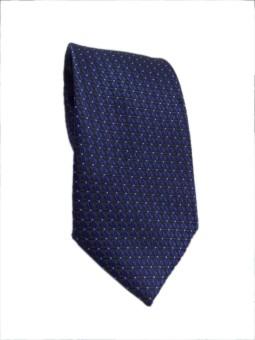 Blacksmithh Formal Navy Blue Jacquard Woven Self Design Men's Tie