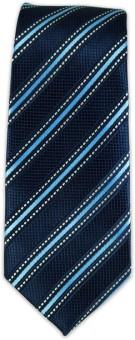 The Tie Hub Carson Striped-Blues Striped Men's Tie