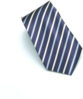 A&S Navy Stripes Striped Men's Tie