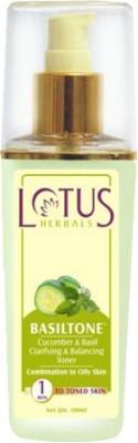 Lotus Herbals Toners Lotus Herbals Basiltone Cucumber & Basil Clarifying & Balancing Toner