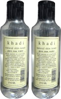 Khadi Natural Skin Toner Pure Rose Water Pack Of 2 (420 Ml)