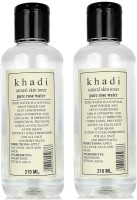 Khadi Herbal Pure Rose Water Pack Of 2 (420 Ml)