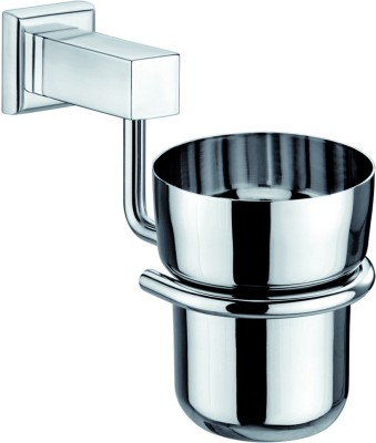 CIPLA Tumbler Stand Stainless Steel Toothbrush Holder Steel, Wall Mount