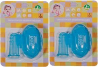 Mee Mee Unique Finger Brush With Cover (Blue)