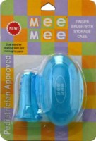 MeeMee Finger Toothbrush with Storage Case Blue