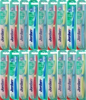 Jordan Kids Click Gum Protector Soft Toothbrush- Pack Of 18 (Color May Vary) (Multicolor)