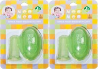 Mee Mee Unique Finger Brush With Cover (Green)