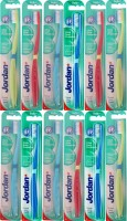 Jordan Kids Click Gum Protector Soft Toothbrush- Pack Of 12 (Color May Vary) (Multicolor)