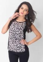 Tarama Casual Short Sleeve Animal Print Women's Top