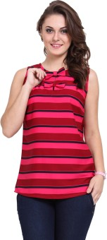 Dede's Casual Sleeveless Striped Women's Top