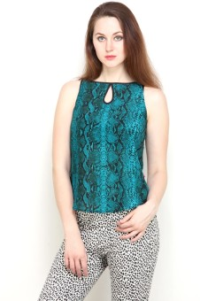 Tops And Tunics Casual Sleeveless Printed Women's Top - TOPE3FHENHSYZDYR