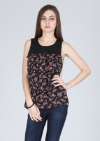 Alibi Casual Sleeveless Printed Women's Top