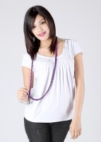Avirate Casual Short Sleeve Solid Women's Top