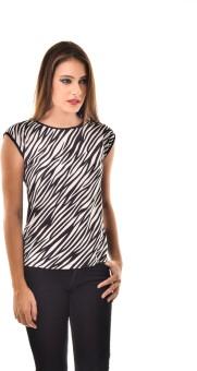 @499 Casual, Festive, Formal, Lounge Wear, Party Short Sleeve Animal Print Women's Top