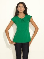 AND Casual Short Sleeve Solid Women's Top