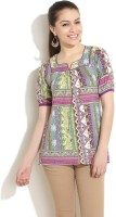 Fusion Beats Casual 3/4 Sleeve Printed Women's Top