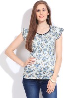 Mossimo Casual Short Sleeve Floral Print Women's Top - TOPDVGX9D8NUGTVX